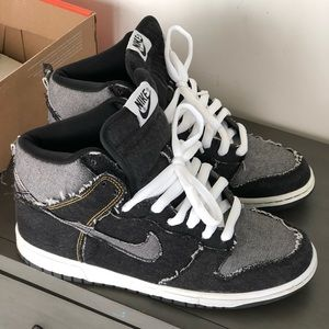 Nike denim dunk high sb supreme